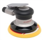 "Industrial Random Orbital Sander With 5"" Low Profile(Tappered Edge) Vinyl/Hook Face Pad"