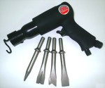 "190mm Hex. Shank Air Hammer With 5Pcs 5"" Chisels"