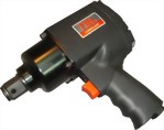 "1"" Pistol Type Mini Heavy Duty Twin Hammer Mechanism Air Impact Wrench With 1""/6"" Anvil"