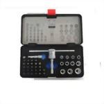 """41 Pcs 1/4"""" Dr. T bar Handle Bits Socket Set (S2 bits, CRV Knurled Socket)"""