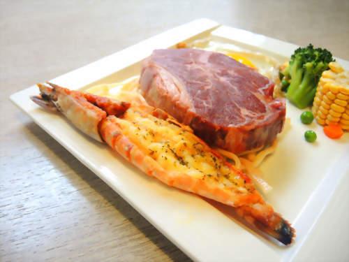 牛排+明蝦