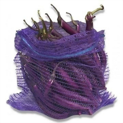 Purple Eggplant Raschel Mesh Bag