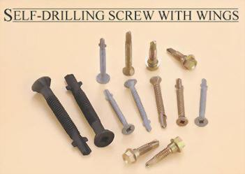 BI-Metal Self Drilling Screws with Wings
