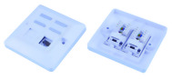 European 45 Degree Module Wall Plates