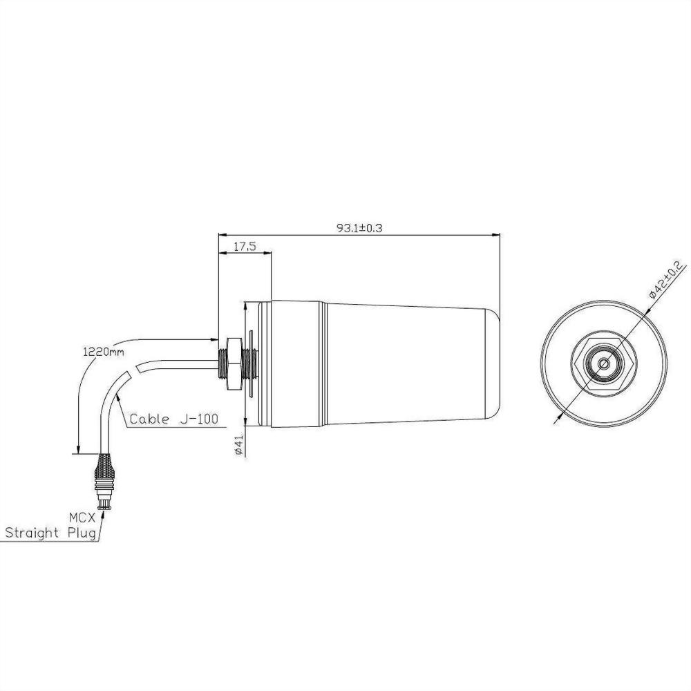 WLAN Antenna Mechanical Diagram