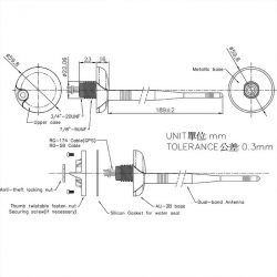 Dual Band Antenna Series Mechanical Diagram