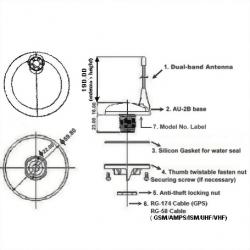 Sensational Dual Band Gps Vhf Antenna Wiring Digital Resources Hutpapmognl