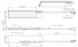 GSM/3G Antenna Mechanical Diagram