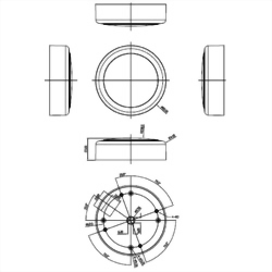 Marine GPS Receiver Mechanical Diagram