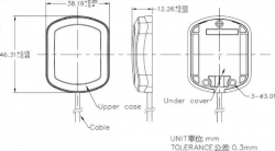 Mobile GPS Antenna Mechanical Diagram