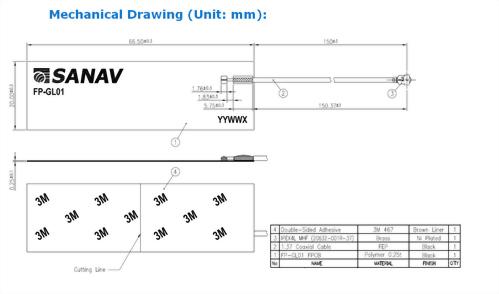 GPS /4G LTE /5G NR Flexible PCB Antenna