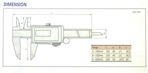 Mitutoyo (505系列)機械掛表式遊標卡尺