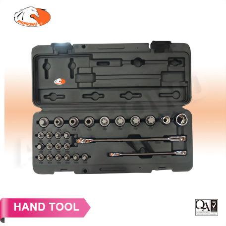 26PCS  Bit Set With Pro Ratchet Wrench_12 & 19mm(H)