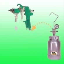 HVLP 2 QUART PRESSURE POT w/GUN & HOSES