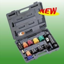 10PCS Radiator Cap Pressure Tester Kit