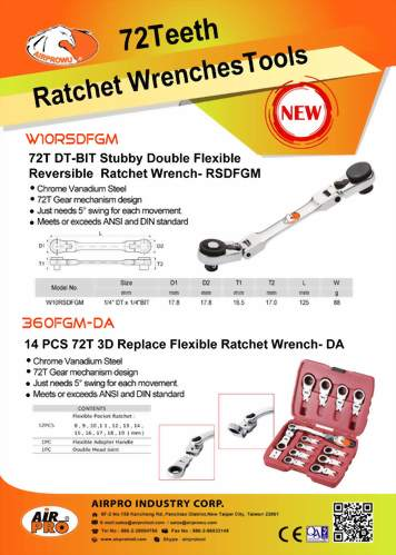 72 Teeth Ratchet Wrench