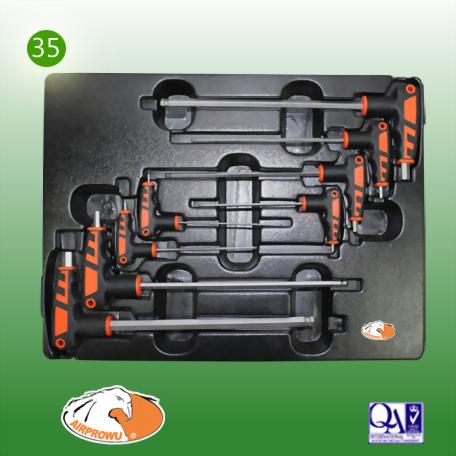 8PCS L Type Ball Hex Key Wrench Set