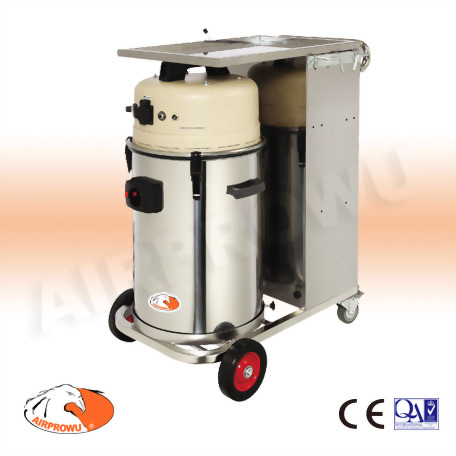 2 Person Mobile Dust Vacuum System w/stainless steel working station; w/o Sanders for Air Sander & Electric Sander Application