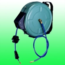 Pu Braid Automatic Air Hose Reel Steel housing w/wall mount bracket