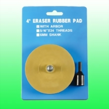 "4"" ERASER RUBBER PAD WITH ARBOUR"