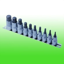 "10PC 3/8"" & 1/2""DR. Hex Bit Socket Set"