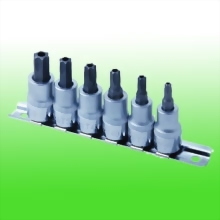 "6PC 3/8""DR. Star Tamperproof Bit Socket Set"