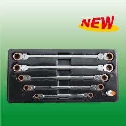 Extra Long Double Box Flexible Spline Ratchet Wrench Set