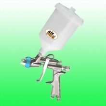 WATER BASE LVLP GRAVITY FEED SPRAY GUN W/0.6 LITER NYLON CUP