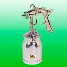 HVLP SUCTION FEED SPRAY GUN w/1.0 LITER ALUM CUP