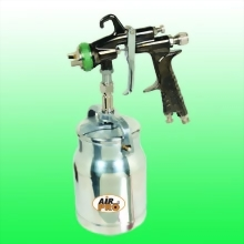 HVLP SUCTION FEED SPRAY GUN W/1.0 LITER ALUM CUP