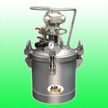 10 LITER STAINLESS STEEL PRESSURE POTS;TOP FLUID OUTLET  w/AIR AGITATOR