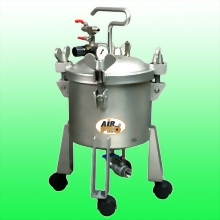 10 LITER STAINLESS STEEL PRESSURE POTS;BOTTOM OUTLET