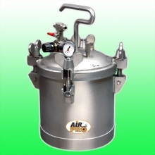 10 LITER STAINLESS STEEL PRESSURE POTS ;TOP  FLUID OUTLET