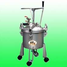 10 LITER STAINLESS STEEL PRESSURE POTS; MANUAL AGITATOR ; BOTTOM OUTLET