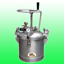 10 LITER STAINLESS STEEL PRESSURE POTS ; TOP FLUID OUTLET w/MANUAL  AGITATOR