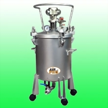 20 LITER STAINLESS STEEL PRESSURE POTS ; AIR AGITATOR ; BOTTOM OUTLET