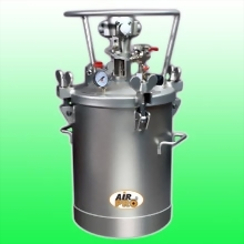 20 LITER STAINLESS STEEL PRESSURE POTS;TOP FLUID OUTLET  w/AIR AGITATOR