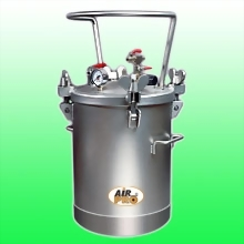 20 LITER STAINLESS STEEL PRESSURE POTS ;TOP  FLUID OUTLET