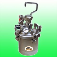 2 LITER STAINLESS STEEL PRESSURE POTS w/AIR AGITATOR