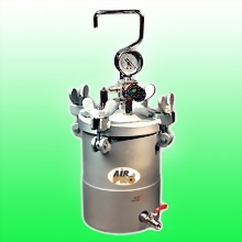 2 LITER STAINLESS STEEL PRESSURE POTS BOTTOM FLUID OUTLET