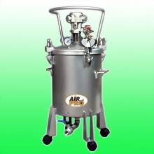 50 LITER STAINLESS STEEL PRESSURE POTS; AIR AGITATOR; BOTTOM OUTLET