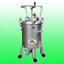 50 LITER STAINLESS STEEL PRESSURE POTS; MANUAL AGITATOR ;BOTTOM OUTLET