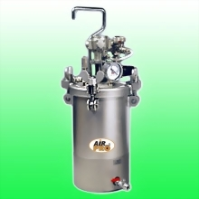 4 LITER STAINLESS STEEL PRESSURE POTS ; BOTTOM FLUID OUTLET w/AIR AGITATOR