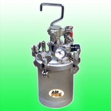 4 LITER STAINLESS STEEL PRESSURE POTS w/AIR AGITATOR
