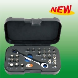 24PCS Bit Set W/ProRatchet Wrench