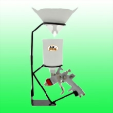 MOUNTABLE SPRAY GUN STAND WITH PAINT STRAINER HOLDER