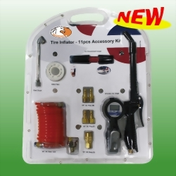 Digital Tire Inflator - 11pcs Accessory