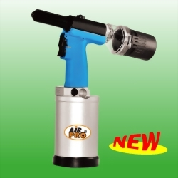 "3/16"" Air Hydraulic Riveter w/ Vacuum Mandrel Collection System"