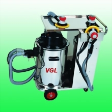 2 Person Mobile Dust Vacuum System w/ Stainless Steel Working Station; w/o Sanders