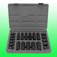 "22 Piece 1/2"" Drive Standard & Deep Metric Impact Socket Set"